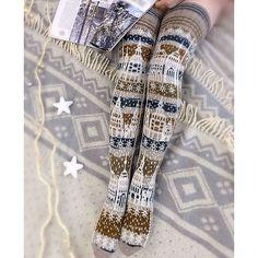 Knitted Socks by Viktoria Zmeyka. Pattern for purchase. Id love to crochet these! Crochet Leg Warmers, Crochet Socks, Knitting Socks, Hand Knitting, Knit Crochet, Knit Socks, Knitted Slippers, Knitting Machine, Vintage Knitting