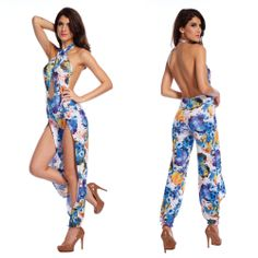 2014 Hot Europe and America Sexy Women Jumpsuit Rompers Lady Nightwear Backless Clubwear Jumpsuit SML $16.99