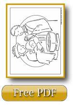 Child Baptism Catholic Sacrament Coloring Page