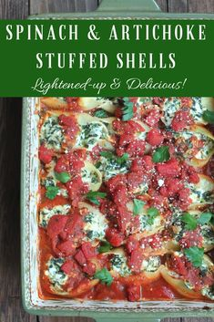 Spinach and Artichoke Stuffed Shells takes your favorite creamy dip and creates it into one of the most fabulous comfort food recipes ever. Top it with delicious Tuttorosso San Marzano Style chopped tomatoes and you have a complete flavor that'll have everyone coming back for seconds. Oh, and did I mention this is lightened-up? Yep! …