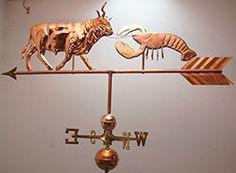 Beautiful Large Bull and Lobster Weathervane Complete Setup | eBay #JoesCrabShack