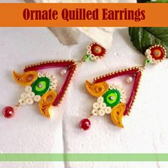 Swayam Creations: DIY ornate quilled earrings