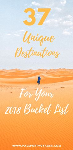 Travel bloggers share their top bucket list destinations for 2018 travel, including many unique and unheard of locations. If you're looking for some wanderlust inspiration for the new year, check out this awesome list of 37 of the best bucket list spots f