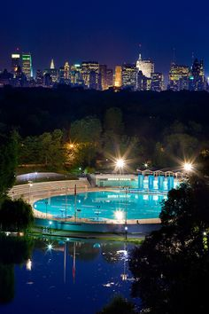 Central Park at Night, NYC