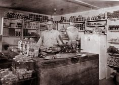 Bert Fore, proudly posing inside of his country store in the 1930's in Rankin County, Mississippi.