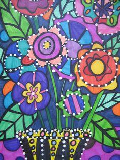 Think Create Art: Folk Art Flowers