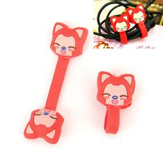 Sweet Color will be random Cartoon Gingerbread Man Design Silicon Cord Fixer http://www.asujewelry.com