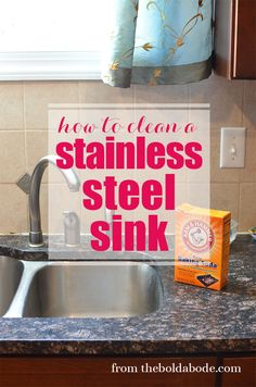 Learn How to Clean a Stainless Steel Sink with this simple, cheap and environmentally friendly tip!