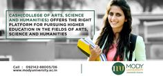 CASH(College of Arts, Science and Humanities) offers the right platform for pursuing higher education in the fields of Arts, Science and Humanities.