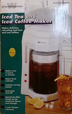 White-Westinghouse Iced Tea and Coffee Maker - http://teacoffeestore.com/white-westinghouse-iced-tea-and-coffee-maker/
