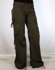 Tomboy Pants by Psylo    Long pants 100% Cotton Baby Canvas