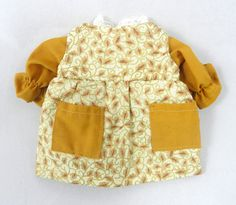 Doll clothes: Gold jumper and blouse for dolls by JoellesDolls