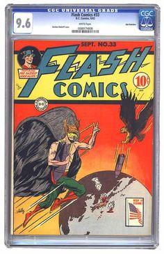 Flag - Hawk - Fastest Man Alive - Rocket - Earth - Sheldon Moldoff