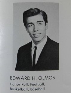 1964 Edward James Olmos Montebello High School Yearbook Battlestar Gallactica