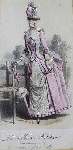 1880s Fashion, Victorian Fashion, Dorian Gray, Summer Gowns, 19th Century Fashion, Pink Fabric, Fashion Plates, Costumes, Fashion Design