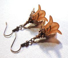 Jewelry Earrings Amber Brown Earrings Amber by SpiritCatDesigns, $5.00