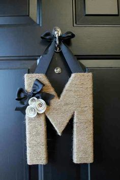 Neat letter wreath