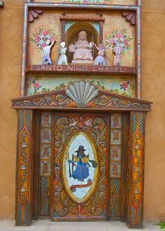 Santo Niño Chapel Door, El Portero, New Mexico