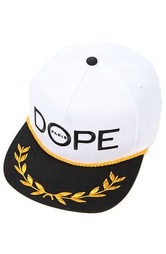 The Mediterranean Snapback Hat in White by DOPE