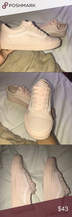 Vans old skool peach blush Worn once. Mono canvas peach blush. Vans Shoes Sneakers