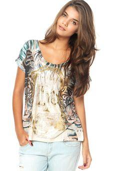 Camiseta Lança Perfume Onça Multicolorida - Marca Lança Perfume