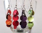 Items similar to Light shell bead earrings in multiple colours on Etsy Handmade Jewelry, Unique Jewelry, Handmade Gifts, Heart Jewelry, Bead Earrings, Wind Chimes, Shells, Jewellery, Beads
