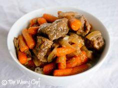 Slow Cooker #Beef Tips over Rice: An easy dump and go #crockpot recipe made from scratch!   The Weary Chef
