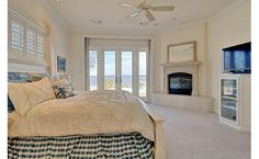 1901 Park Street, TX 76020 Second master, lake home, fireplace, sitting area, crown molding, plantation shutters, door to pool, traditional