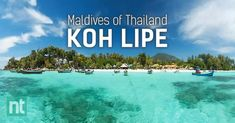 "Koh Lipe (or Lipe Island), a small island situated in the southern part of Thailand. It's so pretty and people started calling Koh Lipe as the ""Maldives of Thailand""."