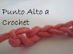 4 Clase - Punto alto a Crochet/ Cómo aprender Ganchillo - YouTube