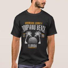Pompano Beach T-Shirt - vintage gifts retro ideas cyo