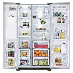 Buy Samsung RSG5UURS American Style Fridge Freezer, Stainless Steel Online at johnlewis.com