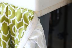 Good Tutorial On How To Sew A Table Or Sink Skirt