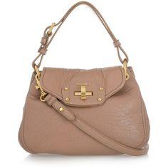 Miu Miu Nappa leather shoulder bag ($525) ❤ liked on Polyvore