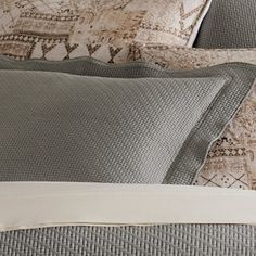 Goes-with-anything woven, textured cotton matelassé coverlet in a range of rich, saturated hues.
