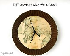 diy map projects | ... www.craftsunleashed.com/index.php/decor-home/make-your-own-clock-map