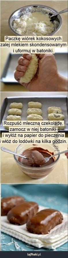 Oto najpopularniejsze trendy w Pinach w tym tygodn. Sweet Recipes, Snack Recipes, Dessert Recipes, Cooking Recipes, Delicious Desserts, Yummy Food, Vegan Fast Food, Diy Food, Love Food