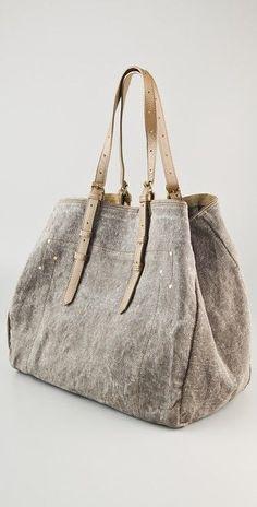 Jerome Dreyfuss Pat Toile Tote Bag.L 38cm - H 43cm - P 20cm