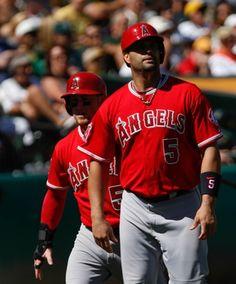 Los Angeles Angels Kole Calhoun, Albert Pujols Angels Baseball Team, Albert Pujols, Oakland Athletics, Mlb, Athlete, Celebrities, Sports, Fashion, Hs Sports
