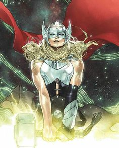 Jane Foster is The Mighty Thor. Not She-Thor or Female Thor! In anticipation of her debut in the MCU, we bring you 20 amazing and cool facts about her. Marvel Comics, Ms Marvel, Arte Dc Comics, Dc Comics Art, Marvel Girls, Comics Girls, Marvel Heroes, Marvel Characters, Lady Thor