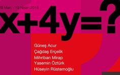x+4y=? | İstanbul'da Sanat Güneş Acur, Çağdaş Erçelik, Mihriban Mirap, Yasemin Öztürk ve Hüseyin Rüstemoğlu'ndan oluşan x+4y=? karma sergisi Galeri Ark'ta sanatseverlerle buluşuyor.  Read more: http://istanbuldasanat.org/x4y/#ixzz3UxcQDFtC