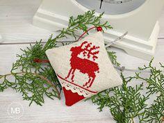 Cross Stitch decoration by MiauBoutique Christmas Stockings, Boutique, Cross Stitch, Holiday Decor, Decoration, Home Decor, Needlepoint Christmas Stockings, Decor, Punto De Cruz
