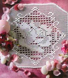 """ru / WhiteAngel - Альбом Mailles Nomero special hors-serie - Roses et Fleurs"""" Filet Crochet, Crochet Stitches, Crochet Hooks, Crochet Patterns, Crochet Tablecloth, Crochet Doilies, Web Gallery, Make It Simple, Album"""