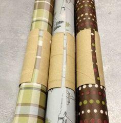 Usa el cartón del papel higiénico para organizar tus láminas para manualidades ....
