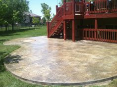 {Stamped U0026 Stained Concrete Patio}