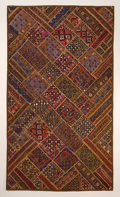 New Wall Hanging Ideas Indian 44 Ideas Textiles, Pakistan Art, Kutch Work Designs, Bohemian Quilt, Bull Painting, Art Above Bed, Tapestry Wall Hanging, Wall Hangings, Lighted Wall Mirror