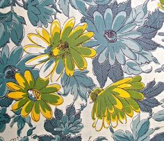 1950s Vintage Floral Fabric