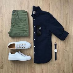 Men Casual Shirt Outfit 🖤 Very Attractive Casual Outfit Grid, Business Casual Attire For Men, Men Casual, Casual Ootd, Casual Chic, Suit Fashion, Mens Fashion, Fashion Trends, Trendy Fashion, Fashion Inspiration