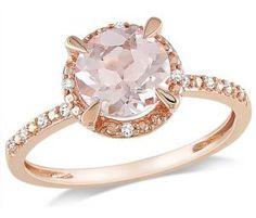 Pink Gold Morganite Diamond Fashion Ring