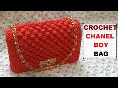 How to crochet Chanel boy bag - YouTube